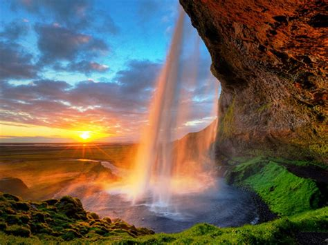 Seljalandsfoss Is One Of The Most Famous Waterfalls In