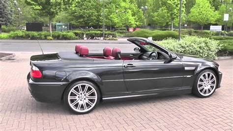 BMW M3 Cabriolet Manual Carbon Black Imola Red 2006 - YouTube