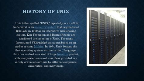 introduction to unix operating system