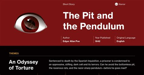 The Pit and the Pendulum Study Guide   Course Hero