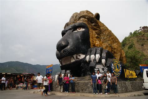The lion's head | The lion's head along Kennon Road is the