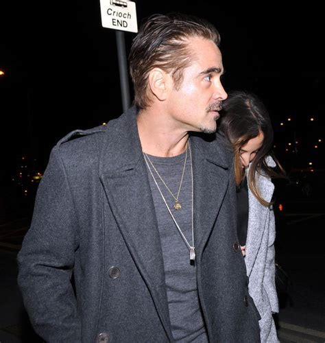 Colin Farrell and new girlfriend at Adele concert in