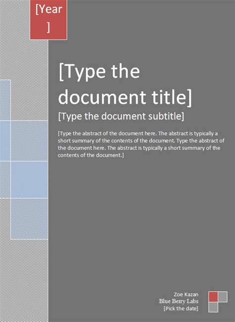Report Cover Template - 4+ Free Word Documents Download