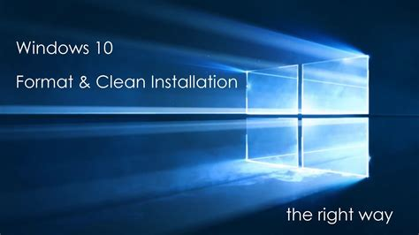 Free Upgrade to Windows 10 – Clean Install with Format
