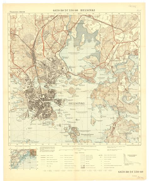 Topographic map of Helsinki, by National Land Survey of