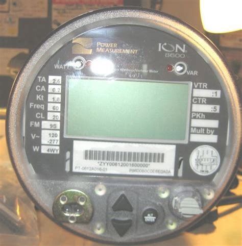Schneider electric square d power logic ION8600 meter