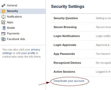 Deactivate facebook account and reactivate   Share