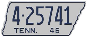Tennessee 1946 License Plate | License Plates | hobbyDB