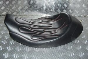 C&C Solo Seat with Red Flames Harley Davidson FLHT Electra