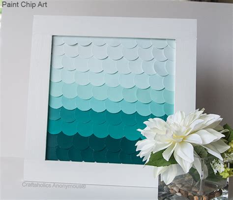 Craftaholics Anonymous®   Paint Chip Art with Ombre