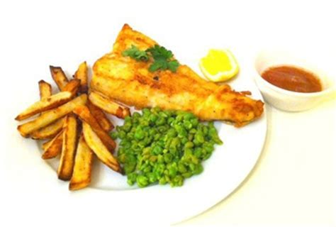 Fish & Chips (with Mushy Peas and Tomato Ketchup) recipe