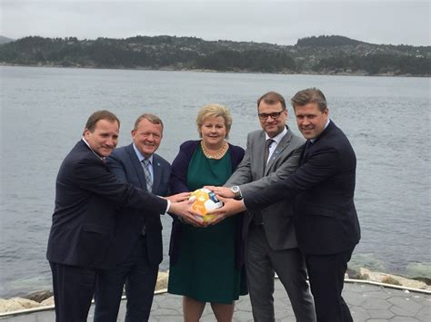 Nordic leaders line up to mock Donald Trump's shiny sphere